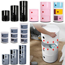 ABS Plastic Drawers Storage Unit Cabinet Tower Organiser Cupboard Bedside Table