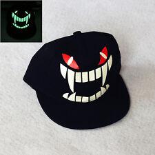Light In The Dark Night Luminous Glow Snapback Baseball Hip-Hop Cap Hat #Monster