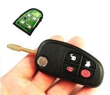 fits Jaguar X type S type XJ 4 Button Remote Key FOB 433MHz +uncut blade