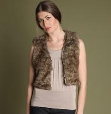 PART TWO 2 Naeva Faux Fur Short Crop Bolero Gilet Body Warmer Waistcoat NEW £60