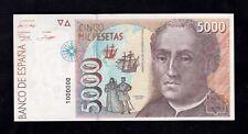 F.C. NÚMERO CURIOSO , 5000 PESETAS 1992 , SIN SERIE , S/C .