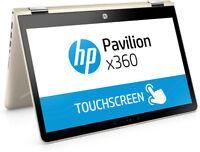 "HP Pavilion x360 14-ba008na 14"" Touch Laptop i3-7100 8GB 128GB GOLD 1RL20EA"