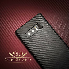 SopiGuard Carbon Fiber Vinyl Sticker Skin Back Side for Samsung Galaxy Note 8