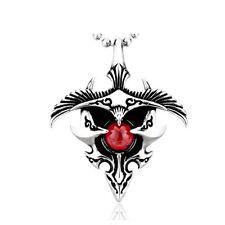 Águila Pájaro Gótico Tribal Biker Colgante Collar de Plata de Acero Inoxidable Libre P&P