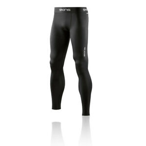 Skins Mens DNAmic Force Compression Long Tights Bottoms Pants Trousers Black