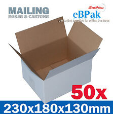 50 NEW Mailing Box 230x180x130mm  Regular Slotted Shipping Carton RSC