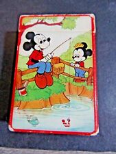 MINIATURE HALLMARK PLAYING CARDS MICKEY MOUSE FISHING COMPLETE WALT DISNEY