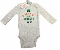 Carters Just For You St Patricks Day One Piece Romper Happy Go Lucky Size 9M