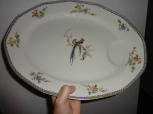 Eden BIRD OF PARADISE  large serving platter Theodore Haviland France LIMOGES