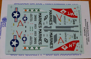 Microscale Decal 1/72 #MS72-822 McDonnell F-4J Phantoms VMFA-232-& VMFA-333