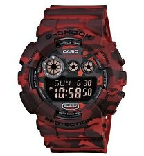 Casio G-Shock * GD120CM-4 X-Large Woodland Camo Red Gshock Watch Men COD PayPal