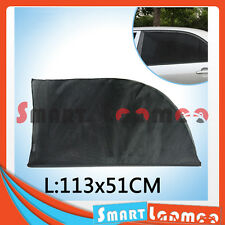2X Car Rear Side Window Socks Sun Shade Black Mesh SUV Sox UV Protection L AU