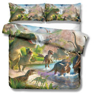 Dinosaur World Doona/Duvet/Quilt Cover Set Single/Double/Queen/King Size Bed