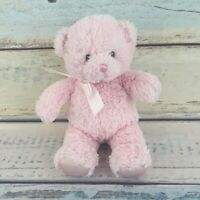"Baby Gund Pink Bear Plush 10"" Stuffed Animal My First Teddy Bear Bow Sewn Eyes"
