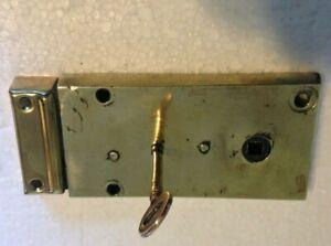 ORIGINAL GEORGIAN Rim Lock with Original Brass Key.   (L11)