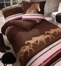 Kaeppel Kinder Mädchen Bettwäsche Mako Satin Pferd Pferde 80 x 80 135 x 200 cm