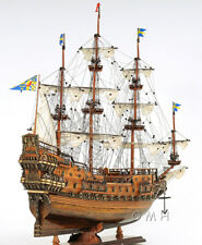 "Vasa 1628 Wasa Swedish Wooden Tall Ship Model 38"" Sailboat Built Boat New"