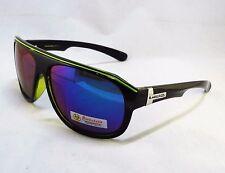 BioHazard Optics Sunglasses GREEN & BLACK Mirror Lens Trendy Unisex Men Shades