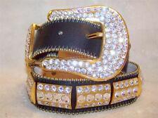 bb Simon Gold Belt Crystallized with Swarovski Rhinestone Western Bling Small 30