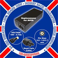ACER LITEON 19V 4.74A ADP-90SB BB AC Adapter PA-1900-04