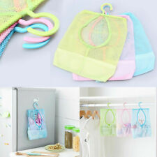 Multipurpose Bathroom Hanging Hook Storage Clothespin Mesh Bag Laundry Organizer
