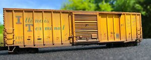 CUSTOM WEATHERED IT ILLINOIS TERMINAL 50' PD BOX CAR ATLAS HO NEW RARE OOP #7347