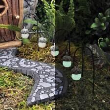 New Georgetown/Fiddlehead Fairy Garden - Miniature glow in the dark acorn lamps
