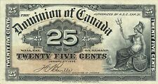 Canada P-9 25 cents 1900 VF-XF