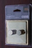 Homebase Georgian Rope Edge Brass Switches Sockets Dimmers Black Inserts