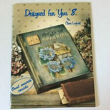 BOOK Tole Painting Patterns-Instructions DESIGNED FOR YOU 8 by Cheri Lockart