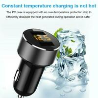 3.6A120W QUICK Charging Dual USB Car Charger LED Metal Mini For iPhone Samsung
