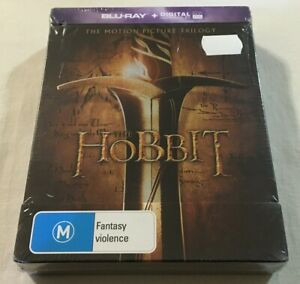 The Hobbit: Motion Picture Trilogy - 6-Disc Set Steelbook Blu-Ray | New | Rare