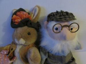 Beatrix Potter Plush Toys, Benjamin Bunny and Mr. McGregor, Eden Toys,