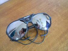 """Alpina Schnee- Skibrille, """"Oldtimer"""" ARCTIS II schwarz, mit Lederschutz,"""