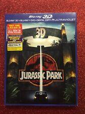 Jurassic Park 3D (Blu-ray 3D/Blu-ray/DVD/Digital HD, 2013) NEW w/ Slipcover