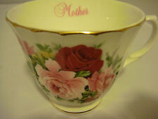 Mayfair Cup Only Fine Bone China Made in England White with Roses