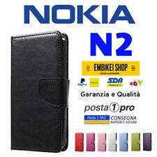 Custodia per NOKIA N2 Flip Cover Libro Portafoglio Chiusura Magnetica