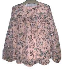 Girls Age 5-6 Years - Pretty Sheer Material Top From George