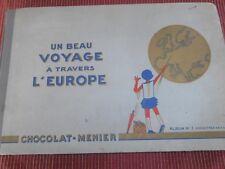 ALBUM D'IMAGES N 1 CHOCOLAT MENIER A TRAVERS L'EUROPE COMPLET  ( ref 58 )