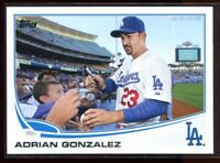 2013 Topps 228b Adrian Gonzalez Signing Autographs SP Photo Variation
