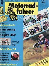 Motorradfahrer 3/94 1994 Ernst Jakob Henne Cagiva 350 W 12 Honda XL 600 V Tengai