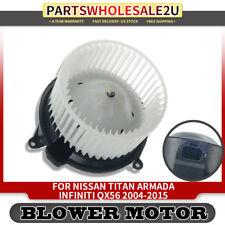 Blower Motor w/ Fan Cage for Nissan Titan Armada 2004-2015 Infiniti QX56 700174