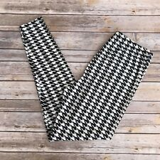Black & White Houndstooth Women's Leggings PS Plus Size TC 12-20 Soft as LLR