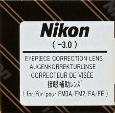 Nikon FM3A/FM2/FA/FE Eyepiece Diopter lens -3 Genuine