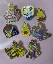More details for disney pin bundle princess rapunzel belle snow white aurora quote loungefly