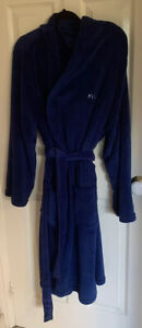 Blue Dressing Gown Embroidered 'King' Size L/XL