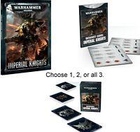 Warhammer 40K Dark Imperium IMPERIAL KNIGHTS CODEX or DATACARDS or DATASHEETS