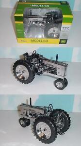 "1/16 John Deere Model 60 Tractor 175th Anniversary ""Silver Chrome Edition"" NIB!"