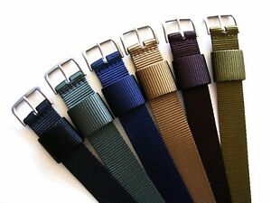 1pc RAF WWII HD Ballistic nylon Olive army Khaki NATO military watch band strap