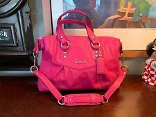 COACH Pink Leather Ashley F19247 Satchel PRISTINE Handbag Rare PINK Colorway